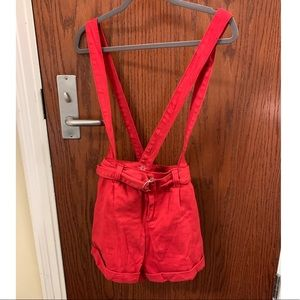 Forever 21 Fiery red overalls